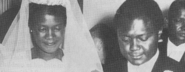 Mr and Mrs Tom Mboya on their wedding day