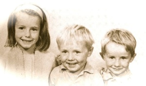 Julie with her brothers